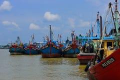 Paesino di pescatori a Hutan Melintang, Perak, Malesia Fotografia Stock Libera da Diritti
