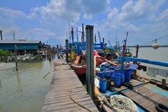 Paesino di pescatori a Hutan Melintang, Perak, Malesia Immagini Stock Libere da Diritti