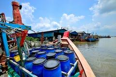 Paesino di pescatori a Hutan Melintang, Perak, Malesia Immagine Stock Libera da Diritti