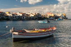 Paesino di pescatori italiano Fotografia Stock