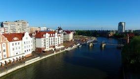 Paesino di pescatori, Kaliningrad video d archivio