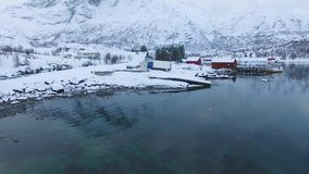 Paesino di pescatori in Lofoten video d archivio