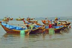 Paesino di pescatori in Muine, Vietnam Fotografie Stock Libere da Diritti