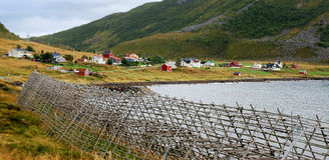 Paesino di pescatori in Norvegia fotografia stock libera da diritti