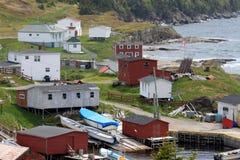 Paesino di pescatori rurale Fotografia Stock