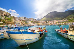 Paesino di pescatori in Sicilia, Italia Fotografia Stock
