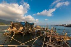 Paesino di pescatori sui trampoli del colpo Bao Village Isola di Koh Chang, Fotografia Stock Libera da Diritti