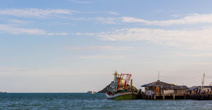 Paesino di pescatori in Tailandia Immagine Stock