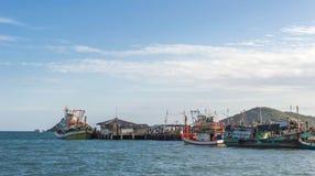 Paesino di pescatori in Tailandia Fotografia Stock Libera da Diritti