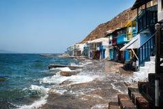 Paesino di pescatori tradizionale sull'isola di Milo Immagini Stock Libere da Diritti