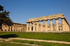 Paestum - Poseidonia希腊寺庙  库存图片