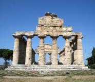 Paestum. Greek temple in Paestum(Southern Italy Royalty Free Stock Image