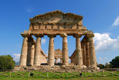 Paestum. A view of Paestum Temple, Salerno, Italy Stock Image