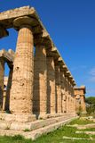 Paestum. A view of Paestum Temple, Salerno, Italy Stock Photos