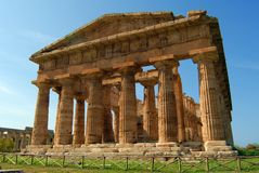 Paestum. A view of Paestum Temple, Salerno, Italy Stock Images