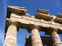 Paestum. Temple of Neptune at Paestum Royalty Free Stock Image
