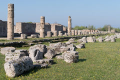 Paestum Archaeological site, Italy Stock Images