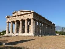 Paestum. Greek temple in italian village Paestum Stock Photos