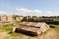 Griechische Tempel von Paestum - Poseidonia Stockfotos