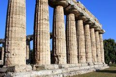 Paestum in Italië stock afbeelding