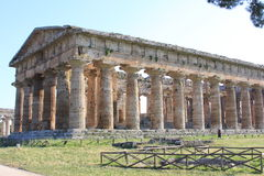 Paestum in Italië stock foto's