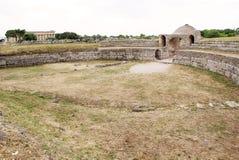 Paestum Italien Fotografering för Bildbyråer