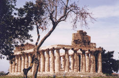 Paestum,Italy. Temple of Athena at Paestum, Amalfi coast, Italy royalty free stock photo