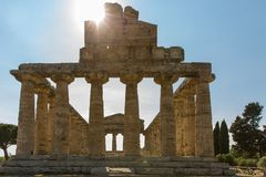The old town of Paestum. stock photo