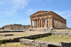 Paestum ruins near naples, italy. Stock Images