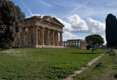 Paestum Tempel III Lizenzfreies Stockbild