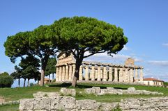 Paestum Temple Royalty Free Stock Photos
