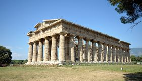 Paestum Temple, Campania, Italy Stock Photos