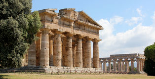 Paestum Temple Stock Photo