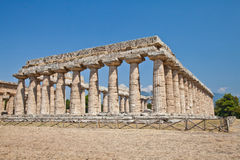 Paestum temple - Italy Royalty Free Stock Photo