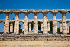 Paestum temple - Italy Royalty Free Stock Photos