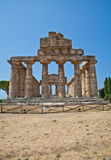 Paestum temple - Italy Stock Photography