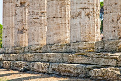 Paestum temple - Italy Royalty Free Stock Photography