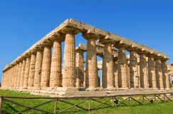 Paestum Temples. Details of temples in paestum salerno, italy Stock Photography