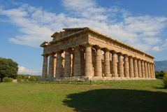 Paestum Temples. Details of temples in paestum salerno, italy Royalty Free Stock Image