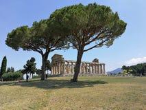 Paestum - templet av Athena royaltyfria foton