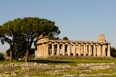 Temples grecs de Paestum - Poseidonia Photographie stock