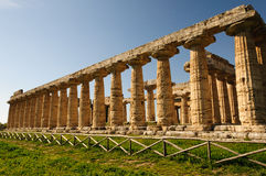 Temples grecs de Paestum - Poseidonia Image stock