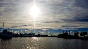 PAFB-solnedgång Fotografering för Bildbyråer