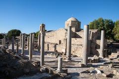 Pafos arruina a igreja ortodoxa velha da American National Standard Imagem de Stock Royalty Free