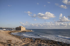 Pafos castle. An ancient Turkish fort, Cyprus Stock Images