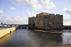 Pafos castle. An ancient Turkish fort, Cyprus Stock Photos