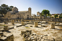 Pafos, cyprus. The early christian basilica of panayia chrysopolitissa (Ayia Kyriaki) in Pafos, cyprus Stock Image