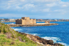 Pafos Harbour Castle in Cyprus Stock Photos