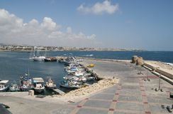 Pafos harbour. Cyprus Stock Image