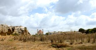 Pafos i swój można katedra Fotografia Royalty Free